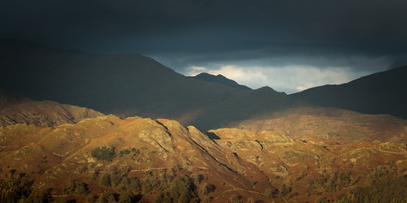 Eastern Fells from Holme Fell, Lake District